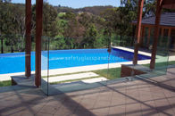 15mm Curved Toughened Glass Pool Fencing , Safety Decorative Pool Fencing