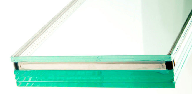 Purple 10mm Green House Laminated Glass Uv Protection , Sound Insulated