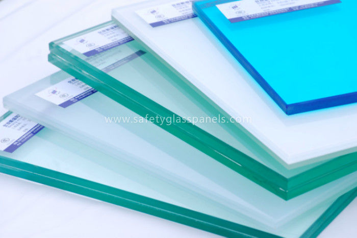 8mm 10mm Tinted Tempered Safety Glass Skylight , Clear Float Glass