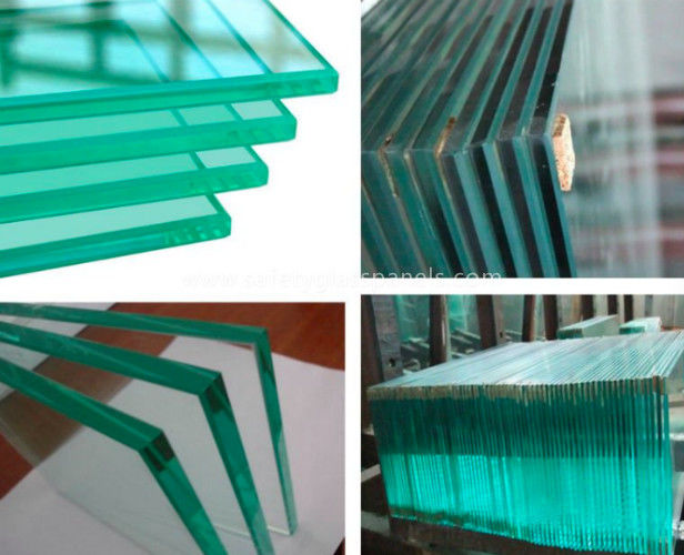Double Glazed Clear Laminated Safety Glass Window 15mm 19mm For Bathroom