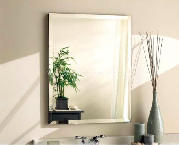 Rectangle 5mm Automobile Tinted Mirror Glass Coated With Silver And Copper