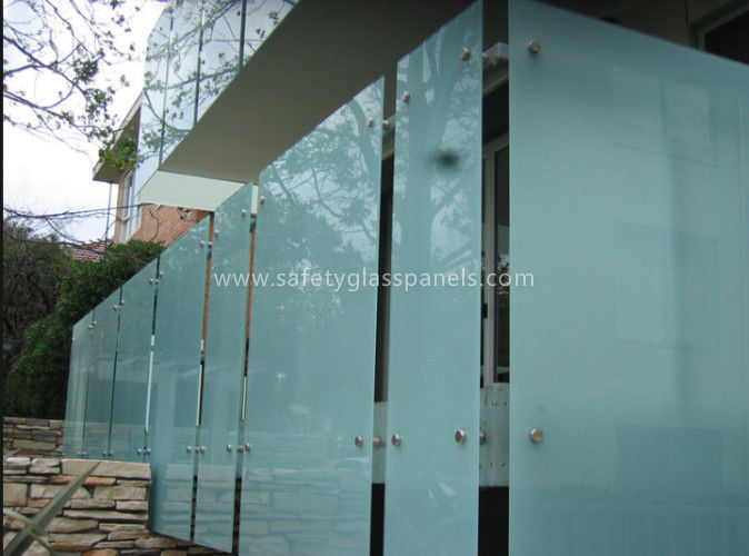 Shower Room Obscure Acid Etched Glass Patterns , Double Sided Auto Float  Glass