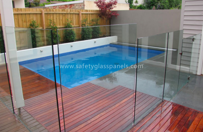 Glass Pool Fence 15mm curved toughened glass pool fencing , safety decorative pool