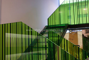 Monolithic Building Decoration Silk Screen Ceramic Printed Glass Partition 10mm 12mm
