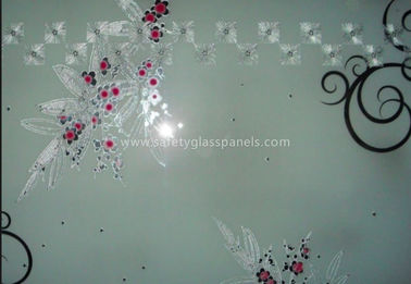 Stained Translucent Acid Ecthed Glass 6mm 8mm Laminated Glass Floor Panels
