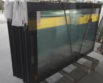 Ultra Clear 5mm Low Iron Printed Glass with Black Boarder RAL9005 Toughened Glass Panels