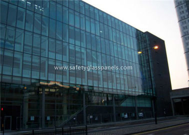 Flat 10MM Tempered Safety Glass Low Visible Distortion , Milk White Laminated Glass